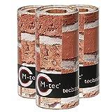M-tec Print® Bedruckte PVC Zaunstreifen Backstein Mauer: Sichtschutzstreifen für 9 Reihen im Zaunfeld. inkl. 18 Klemmschienen