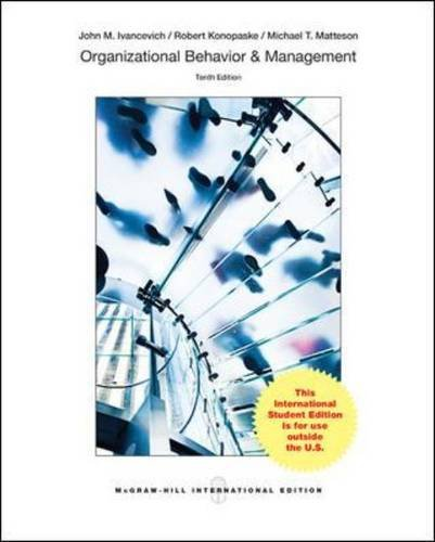 Organizational Behavior and Management (College Ie Overruns)