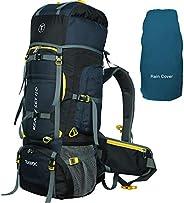 TRAWOC 80L Travel Backpack for Outdoor Sport Camp Hiking Trekking Bag Camping Rucksack HK007 (NAVYBLUE) 1 Year