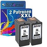 PlatinumSerie® 2x Druckerpatrone für Lexmark 36 XL Black X5650 X 3650 X3690 X 4630 X4650 X 5630 X5650