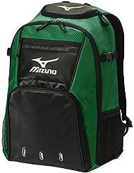 Mizuno organizador G4batpack - 360226.4190.01.0000, 20'' x 14'' x 9'', Bosque/Negro
