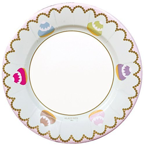 Caspari Entertaining Petit Chou Salad/Dessert Plates, Pink, 8-Pack by Caspari
