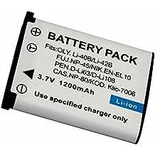 1 pz 1200 mAh NP-45 LI-40B LI-42B NP45 LI40B LI42B Batteria per Fujifilm FinePix Z30, Z10fd, Z250fd, Z110, Z700EXR, J10, J120, JV100, JX405, XP10, T200