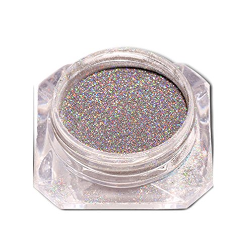 kashyk Optische Chamäleon Illusion Multi-Color-Glitzerspiegel Spiegelpulver Holographic Laser Powder Rainbow Nail Art Pigment Super Shine Manicure Glitter