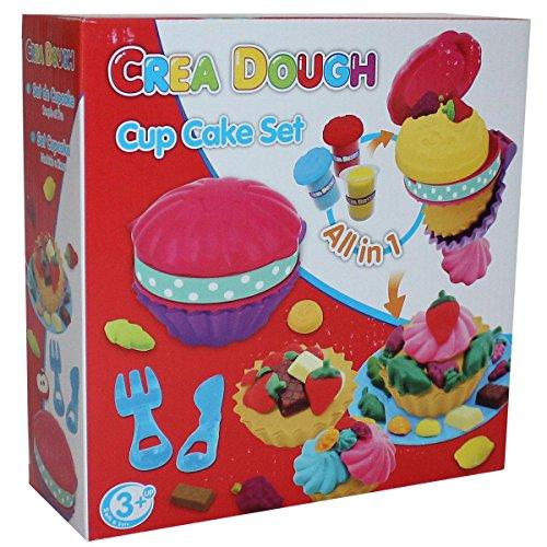 Crea Dough Cup Cake Set Waffel Maker Knete Backen Spielzeug Weihnachten Kinder, Variante:Cup Cake