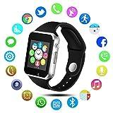 Qimaoo Bluetooth Handgelenk Smartwatch mit Telefon mit Bluetooth und SIM Card Slot Sport Armbanduhr Activity Tracker Schrittzähler Smart Armbanduhr Band Handy für Android und IOS Mobile Smartphones