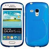PhoneNatic Custodia Compatibile con Samsung Galaxy S3 Mini Cover Blu S-Style Galaxy S3 Mini in Silicone Cover