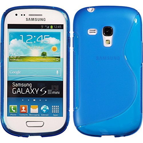 PhoneNatic Custodia Compatibile con Samsung Galaxy S3 Mini Cover Blu S-Style Galaxy S3 Mini in Silicone Cover