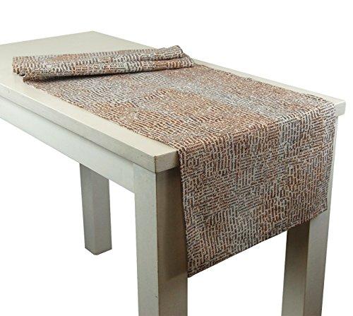 beties Vier Pfoten Tischläufer ca. 40x130 cm 100% Baumwolle im Zeitungs-Print Letter-Mix -
