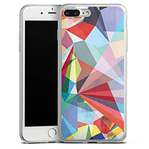 Apple iPhone 8 Plus Slim Case Silikon Hülle Schutzhülle Kristall Regenbogen Bunt Silikon Slim Case transparent