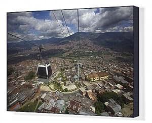 Impression sur toile de Vue sur la Barrios pobre de medellín, où les Pablo Escobar Had Supporter de nombreux
