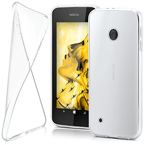 moex Nokia Lumia 530 | Hülle Silikon Transparent Klar Clear Back-Cover TPU Schutzhülle Dünn Handyhülle für Nokia Lumia 530 Dual SIM Case Ultra-Slim Silikonhülle Rückseite