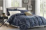 Comforter bedding sets 6 pieces with one duvet one fitted sheet four pillows king sizes