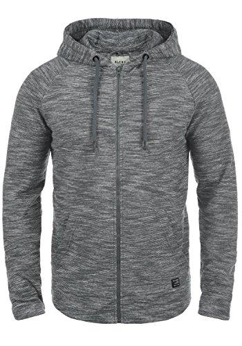 BLEND Juno Herren Sweatjacke Kapuzen-Jacke Zip-Hood aus 100% Baumwolle Meliert, Größe:M, Farbe:Granite (70147)
