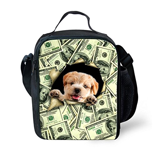 orrinsports-3d-print-insulated-lunch-bag-totes-keep-hot-and-cold-for-kids-money-dog-by-orrinsports