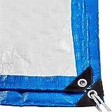TANG CHAO Wasserdichtes allgemeines Vielzweck 12 Mil-Polyplane groß für Plane-Überdachungs-Zelt, Boot, RV oder Pool-Abdeckung, blaues Weiß (größe : 4M×6M)