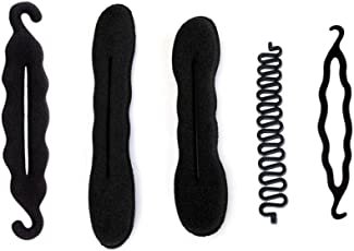 Homeoculture Hair Accessories, Black, (Pack of 5)