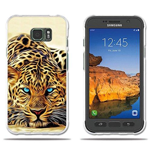 """fubaoda Funda Samsung Galaxy S7 Active Exótico Dibujo de un Leopardo de Ojos Azules,Amortigua los Golpes, Funda Protectora Anti-Golpes para Samsung Galaxy S7 Active (5.1"""")"""