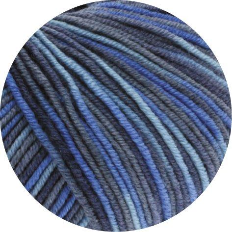 LANA GROSSA COOL WOOL PRINT, 716 - Jeans/Schiefer/Royal