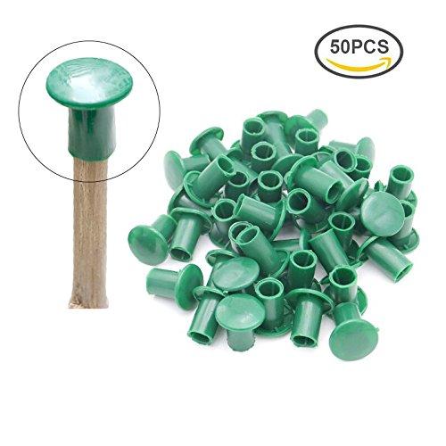 Stöcke Gummi-kappen Für (50 Stk Bambusrohr Kappe, Grün weiche Gummi kappen für Bambusstäbe)