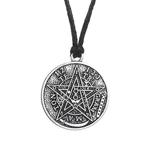 Hebreo Tetragrammaton Goetia Hermetic Kabbalah Pentacle Colgante Collar para Hombre