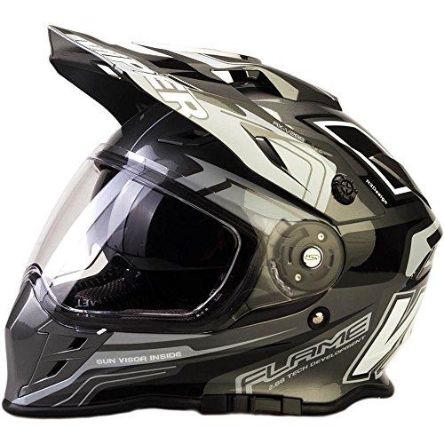 Casque de moto Viper RX-V288 MX Enduro Quad Sports, pour motocross New Style avec visière...