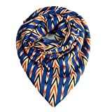 Niche Indiana French Crepe Blue Scarf