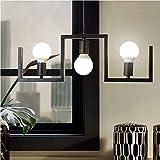 LOFAMI Lampada a sospensione moderna moderna del lampadario a sospensione a 3 lampade a soffitto Lampada a sospensione del corridoio di soggiorno