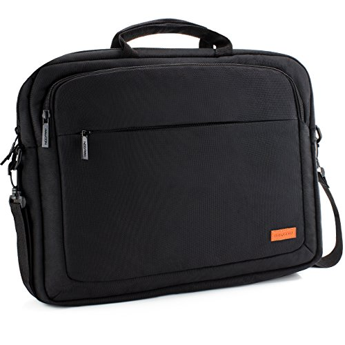 "deleyCON Notebook-Tasche bis 17,3"" Zoll (43,2cm) Laptop Notebook Netbook Macbook Tragetasche Schultertasche Schutztasche Jacquard Schwarz"