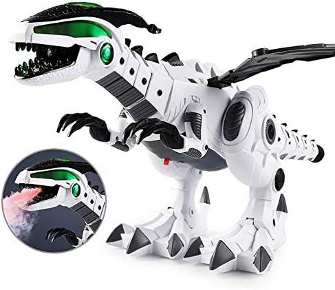 KOBWA KOBWA KOBWA Jouets de Dinosaure Robot avec pulvérisation mécanique et Son léger pour  s Grand modèle de Dragon Marchant Jouet interactif avec Queue et Ailes pour garçons et Filles | Matériaux De Qualité  7a93c3