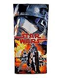 Jungen Disney Star Wars Sommer Schwimmen Baumwolle Strandtuch Badetuch Kinder Darth Vader Yoda D2, Schwarz, 11013#CM605#FORCEAWAKENS