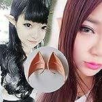 TAOHOU Paar Elfenohren Latex Soft Prothetik Falsches Ohr Fairy Cosplay Zubehör helle Hautfarbe
