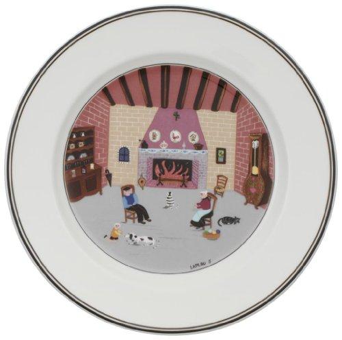 Preisvergleich Produktbild Villeroy & Boch 10-2337-2646 Design Naif Frühstücksteller Kamin, 21 cm, Porzellan mit verspielt wirkendem Dekor