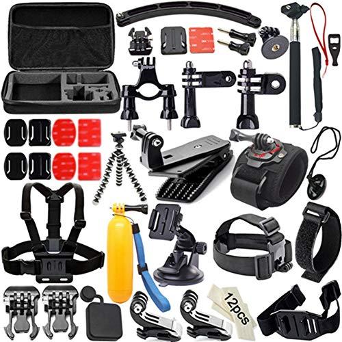 Egurs 53-in-1 Action Sport Accessori per Fotocamere Set per GoPro Hero 7 6 5 4 3+ 3 2 1 Hero Session 5 Compatibile con Mountain Dog SJ4000 5000 6000 Ant