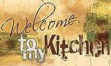 Artland Design Spritzschutz Küche I Alu Küchenrückwand Herd BxH: 110x65 cm sehr schnelle und einfache Montage Willkommen in meiner Küche
