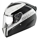 SHARK RACE-R PRO CARBON RACING DIVISION DUAL TOUCH, Farbe weiss-schwarz-silber, Größe XL (61/62)