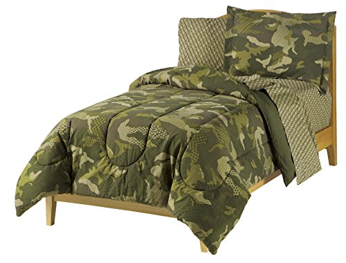 Geo Tröster Set (everydayhomeoutlet Dream Factory Geo Camo Armee Jungen Tröster Set, grün, Twin)