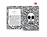 Elton 3M Vinyl Skin Decal Sticker Protective for Kindle Paperwhite eBook Reader Wrap Cover Skin - Skull (B&W)