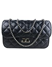 Fashion Women Leather Quilting Chain Cross Body Korean Purse Lady Handbag By Amaze
