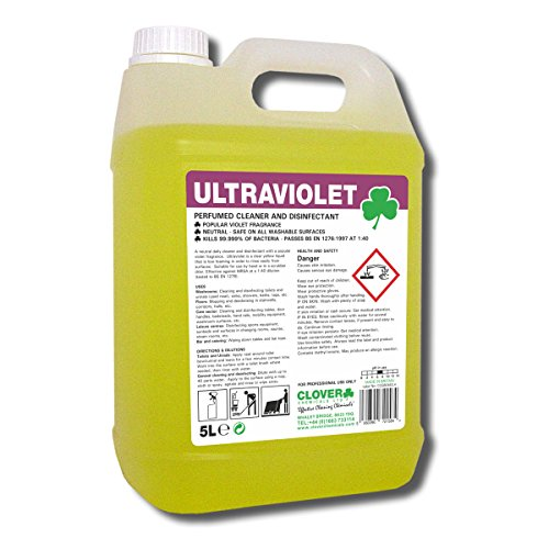 Clover Chemikalien bac081–5UV-Konzentrat Parfümierte Reiniger Desinfektionsmittel, 5l Jar (Pack von 2) Desinfektionsmittel Jar