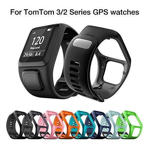boastvi Für Tom Tom Riemen Armbänder, Ersatz Silikon Uhrenarmband Armband Für Tomtom 2 3 Series Runner 2 3 Spark Series Golfer 2 Adventurer Sport Running Smartwatch