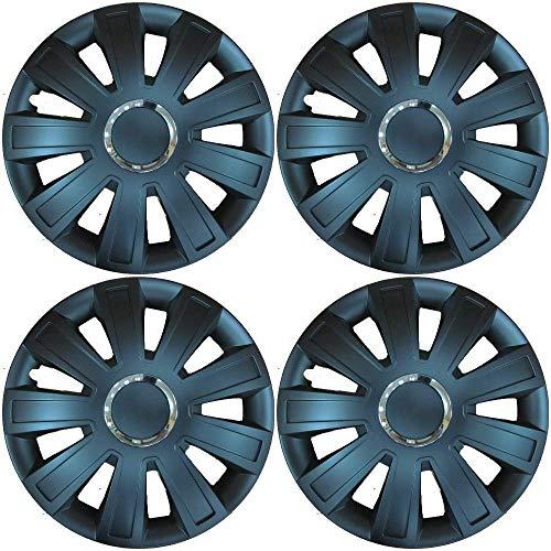 UKB4C Set of 4 Black Wheel Trims/Hub Caps 14