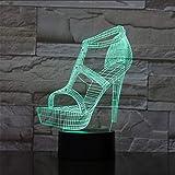 Zapatos De Tacón Alto De Las Mujeres 3D Luz De Noche Atmósfera Lámpara De Mesa Mesita De Noche Novia Regalos De Cumpleaños Luces Decorativas