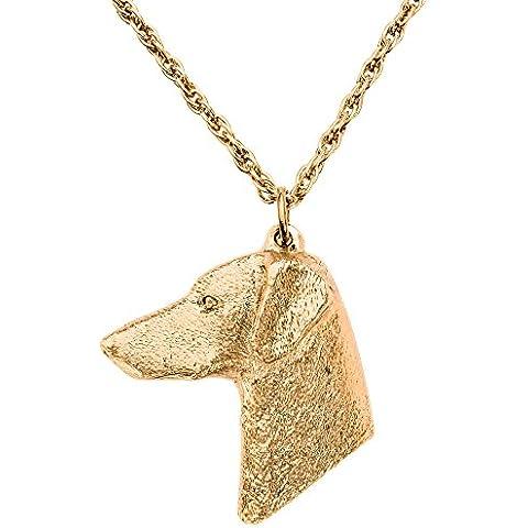 Dobermann (Testa) Made in UK, Collezione Pendente Collana Artistici Stile Cani