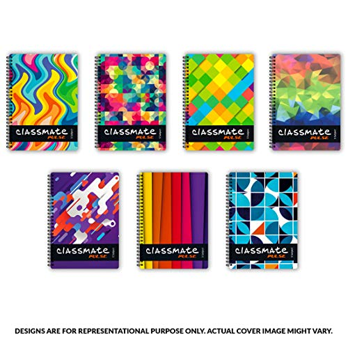Classmate Soft Cover 6 Subject Spiral Binding Pocket book, Single Line, 300 Pages Image 3