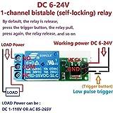 Sellify Elektrische Ausrüstungen 2X DC 6V 9V 12V 24V Flip-Flop Latch Relaismodul bistabile Selbsthemmend Low Pulse Trigger-Brett für Arduino Smart Home LED-Schalter
