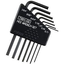 """7 pieza tamaño mini imperiales (pulgadas) ALLEN KEY Set, incluyendo los tamaños 1/16 0:05 5/64 """"3/32"""" 7/64 """"(pequeños llaves hexagonales). Engineer twh-02, mini allen key set (imperial)"""