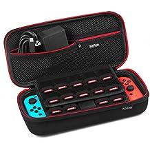 Tasche für Nintendo Switch, Keten Neueste Version der Tragetasche für die Nintendo Switch Konsole, Spiele, Joy-Con und anderes Nintendo Switch Zubehör, Hardcover Tragetasche für die sichere Aufbewahrung von bis zu 19 Spielen, (Nicht für Nintendo DS Lite)
