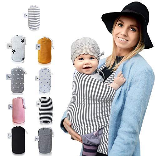 »fastique kids« Fular portabebés elastico para llevar al bebé fulares para hombre y mujer - tonga pañuelo portabebe ajustable