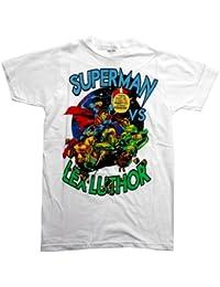 Superman Vs Lex Luthor DC Comics Cartoon Superhero Adult T-Shirt Tee